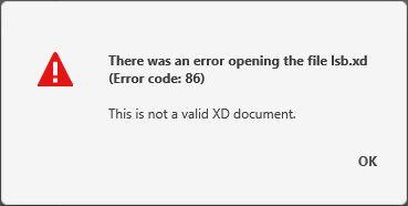 Restoring corrupted .xd file